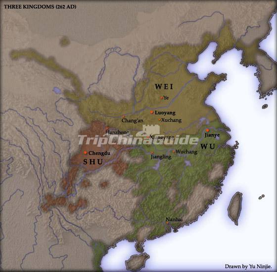 Three Kingdoms English Map 262 AD - Three Kingdoms China ...