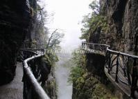 Plank Road in the Ghost Valley of Zhangjiajie Tianmen Mountain