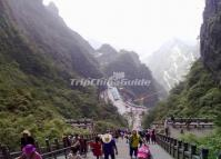 Tianmen Mountain in Zhangjiajie China