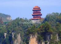The Heaven's Son Pavilion (Tian Zi Ge) in Tianzi Mountain