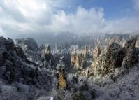 Tianzi Mountains in Winter