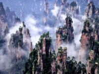 Zhangjiajie Tianzi Mountain in Mist