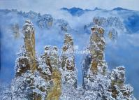 Tianzi Mountains in Wulingyuan China