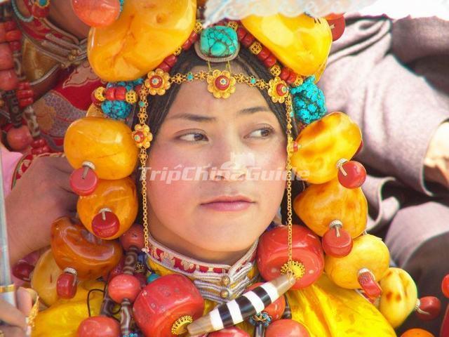Tibetan Ethnic Headwear - Tibetan Ethnic Group Photos cf9d76d1853