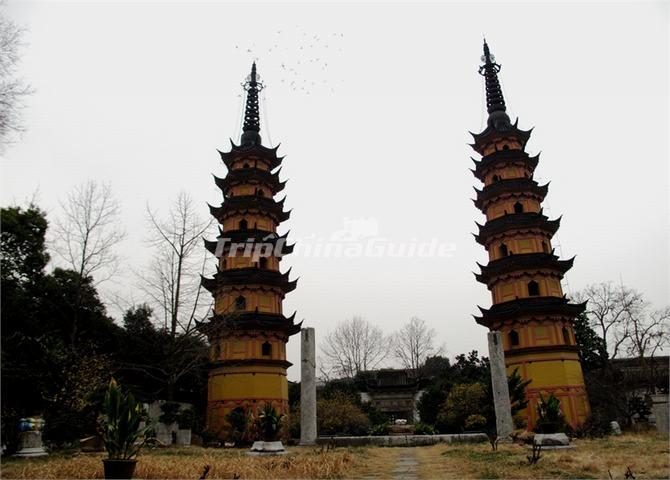 Twin Pagodas at Luohanyuan Temple