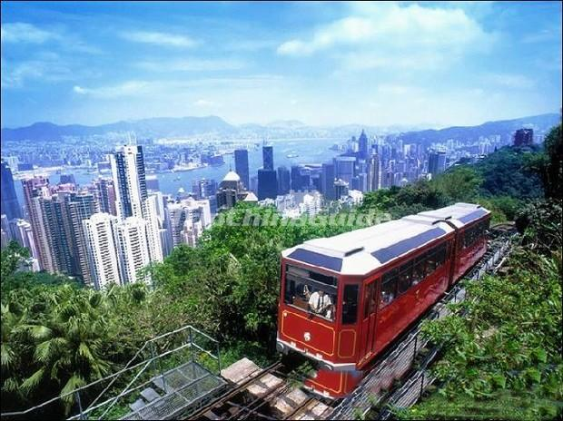Sightseeing Train at Victoria Peak Hong Kong