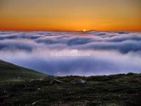 Sea of Clouds and Sunrise in Wutai Mountain