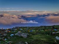 Sea of Clouds and Sunset in Beitai Peak