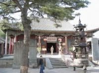 Inside the Luohou Temple in Wutai Mountain