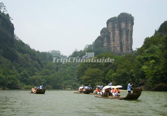 The Nine Bend River in Mount Wuyi Fujian China