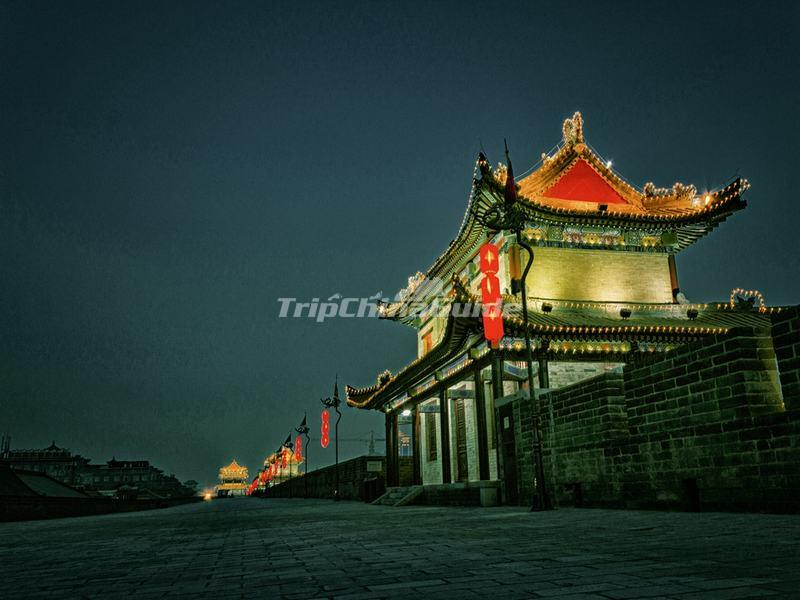 The Nightscop of Xian City Wall