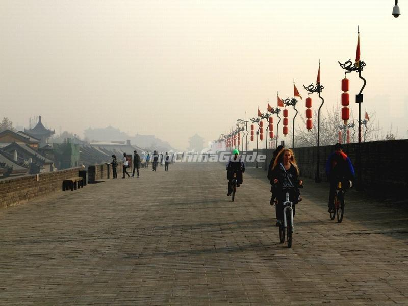 Biking on Xian City Wall