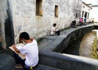 Xidi Village Sketching Huangshan City