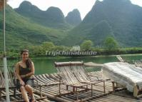 Rafting on the Yulong River in Yangshuo