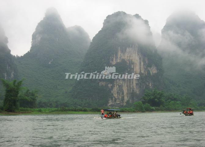 Li River Yangdi to Xingping Bamboo Rafting