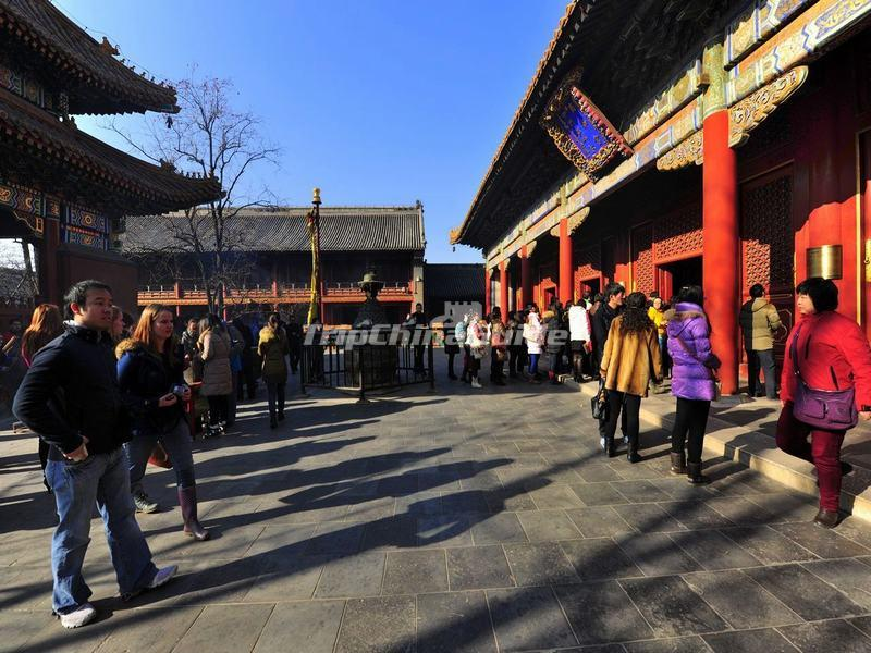 Tourists Visit Beijing Yonghe Temple
