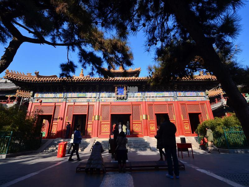 The Falun Hall (Hall of the Wheel of the Dharma) in Beijing Yonghe Temple
