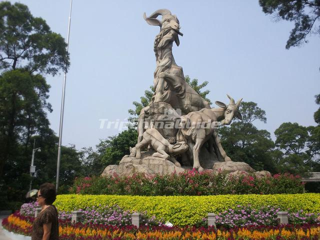 The Five Rams Sculpture at Guangzhou Yuexiu Park