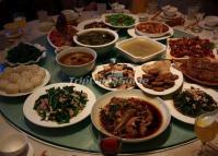 Chinese Food in Yunti Hotel, Yuanyang