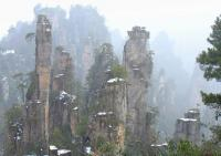 The Sand Stone Peaks in Zhangjiajie National Forest Park