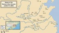 States of the Western Zhou Dynasty (1046-771 BCE) English Map