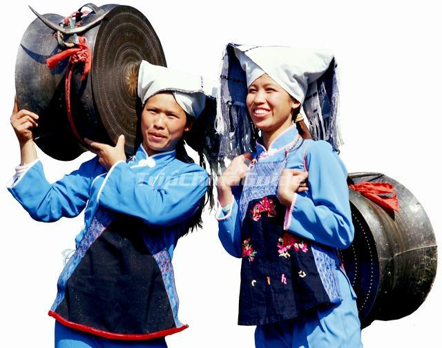 Zhuang Women and Brone Drum